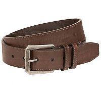 Men's Bill Adler Double Loop-Stitched Leather Belt