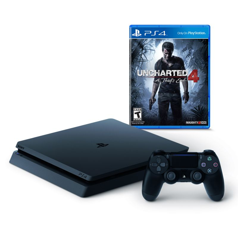 Playstation 4 Slim 500GB Uncharted 4: A Thief's End PS4 Bundle, Multicolor