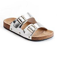Mudd® Women's Double Buckle Slide Sandals