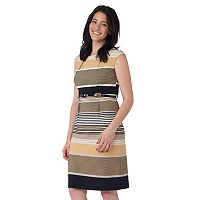 Women's ILE New York Multi Stripe Sheath Dress