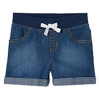 Girls 4-10 Jumping Beans® Pull On Denim Shorts