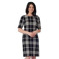 Women's ILE New York Plaid Shift Dress