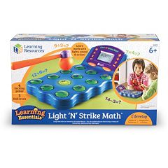 Learning Resources Light 'N' Strike Math Electronic Game by