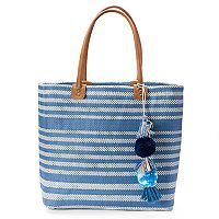 SONOMA Goods for Life™ Striped Seagrass Tote