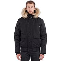 Men's Noize Faux-Fur Hooded Bomber Jacket