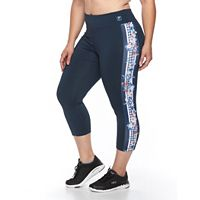 Plus Size FILA SPORT® Spring Floral Crop Workout Leggings