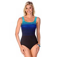 Women's Reebok Sea to Sea Striped One-Piece Swimsuit