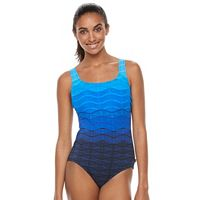 Women's Reebok Wavy Striped One-Piece Swimsuit