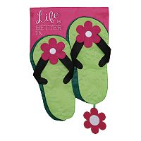 Evergreen Enterprises Flip-Flops Indoor / Outdoor Garden Flag