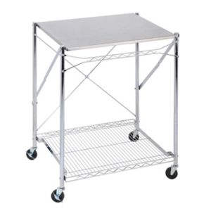 Honey-Can-Do Stainless Steel Folding Work Table