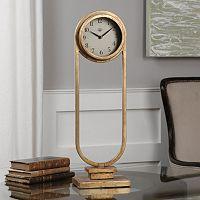 Alard Gold Finish Tabletop Clock