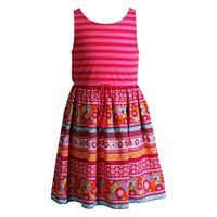 Girls 4-6x Youngland Pattern Knit & Woven Sundress
