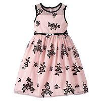 Girls 4-6x Marmellata Classics Floral Flocked Dress