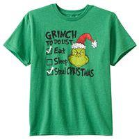 Boys 8-20 Dr. Seuss The Grinch To-Do List Tee
