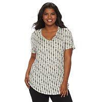 Juniors' Plus Size Mudd® V-Neck Shirttail Tunic Tee