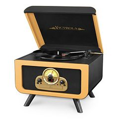 Victrola Tabletop Bluetooth Record Player with CD Player by