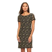 Women's Suite 7 Scalloped Lace Shift Dress