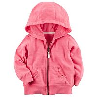 Baby Girl Carter's Hooded Slubbed French Terry Cardigan