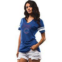 Women's Majestic Chicago Cubs Spirit Awareness Tee