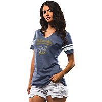 Women's Majestic Milwaukee Brewers Spirit Awareness Tee