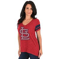 Women's Majestic St. Louis Cardinals Check the Tape Tee