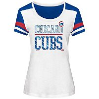 Women's Majestic Chicago Cubs Overwhelming Victory Tee