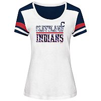 Women's Majestic Cleveland Indians Overwhelming Victory Tee