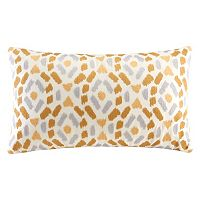 INK+IVY Auden Ogee Ikat Embroidered Oblong Throw Pillow