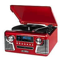Victrola 50's Retro Bluetooth Record Player with CD Player