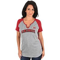 Women's Majestic Cincinnati Reds From the Stretch Tee