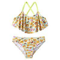 Girls 7-16 St. Tropez Giggles Flounce Bikini Swimsuit Set