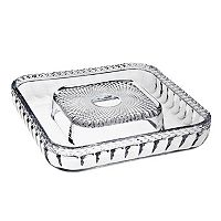 Godinger Belmont Crystal Cheese & Cracker Serving Tray