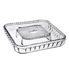 Godinger Belmont Crystal Cheese & Cracker Serving Tray by