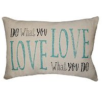 Spencer Home Decor ''Do What You Love'' Oblong Throw Pillow