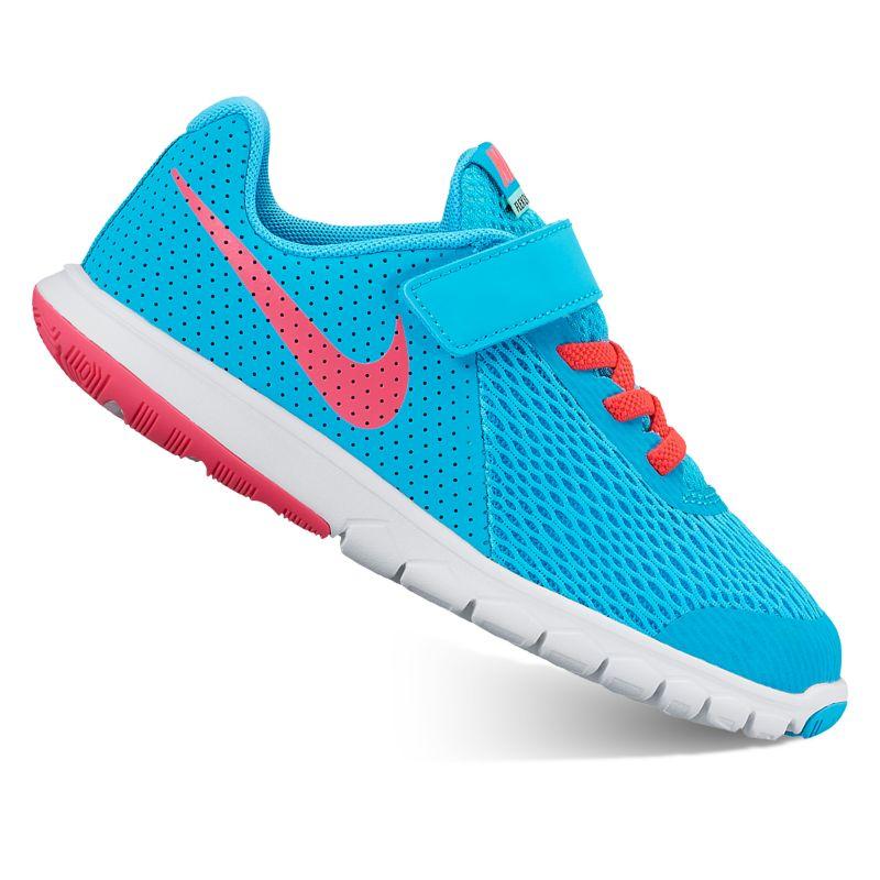 Nike Flex Experience 5 Pre-School Girls' Running Shoes, Size: 2, Dark Blue thumbnail