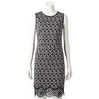 Women's M by Maia Geometric Sheath Dress