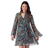Women's Indication by ECI Paisley Chiffon Shift Dress