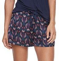Women's Apt. 9® Pajamas: Night Skies Satin Pajama Shorts
