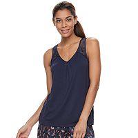 Women's Apt. 9® Pajamas: Night Skies Knit Satin Tank Top