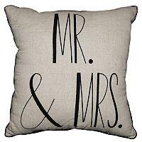 Spencer Home Decor ''Mr. & Mrs.'' Throw Pillow