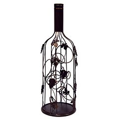 New View Grape Leaves 1-Bottle Metal Wine Rack