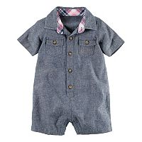 Baby Boy Carter's Chambray Button-Front Romper