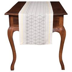 KAF HOME Broadway Triangle Jacquard Table Runner 90'' by