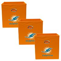 Miami Dolphins 3-Pack Storeits Fabric Storage Drawers