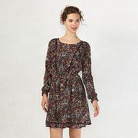 Women's LC Lauren Conrad Swiss Dot Shift Dress