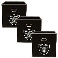 Oakland Raiders 3-Pack Storeits Fabric Storage Drawers