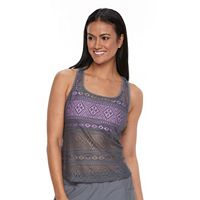 Women's Splashletics 2-1-in Crochet Tankini Top