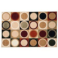 Portsmouth Home Contemporary Circles Rug