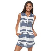 Women's Apt. 9® Striped Hooded Cover-Up