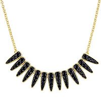 V19.69 Italia 18k Gold Over Silver Black Sapphire Mystique Necklace